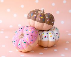 Mini Pumpkin Donuts...these are the BEST Carved & Decorated Pumpkin Ideas!