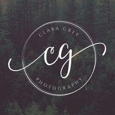 Circle Logo Initials Logo Photography Logo Design