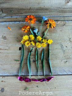 Vase + flowers