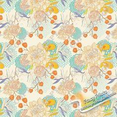 Wg077 Flower digital printed fabric, fancy custom print fabric
