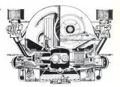 Cross section of a series Porsche 356 Super engine Volkswagen, Vw T1, Vw Engine, Car Tattoos, Audi, Bmw, Beetle Car, Deus Ex Machina, Performance Engines