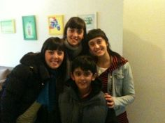 The three sisters - Deborah, Dinorah and Daniella who came all the way from Uruguay in Dec '12 with young Neo!