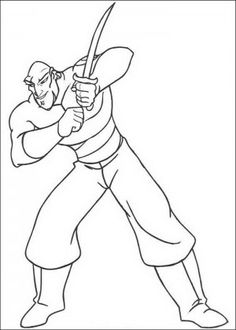 sindbad coloring pages 11