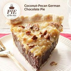 Chocolate Pecan German Chocolate Pie - i think i need to try this