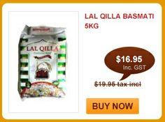Season's special!  Lal Qilla Basmati 5kg just for $16.95!  Shop online at http://www.shahiindia.com.au/lal-qilla-basmati-5kg.html