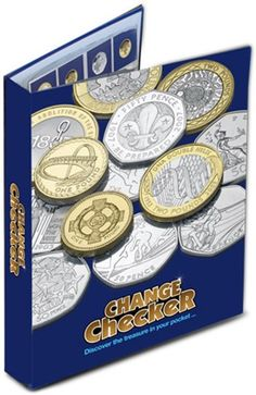 The Change Checker Collector's Album with a selection of additional Change Checker accessories: x spare pages with ID cards) and and Collection Pages). Mint Coins, Silver Coins, Change Checker, Rare Coins, Coin Collecting, Kit, Personalized Items, Banks, British