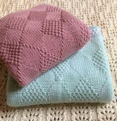 Baby Knitting pattern by KnittedAccent Baby Boy Knitting Patterns, Knitting Machine Patterns, Baby Patterns, Knit Patterns, Wool Baby Blanket, Pink Baby Blanket, Patchwork Blanket, Cable Knit Blankets, Knitted Baby Blankets