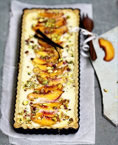 Peach Pistachio Ricotta Cheesecake Tart : Passionate About Baking Tart Recipes, Sweet Recipes, Whole Food Recipes, Dessert Recipes, Cooking Recipes, Pie Dessert, Dessert Ideas, Ricotta Cheesecake, Cheesecake Tarts
