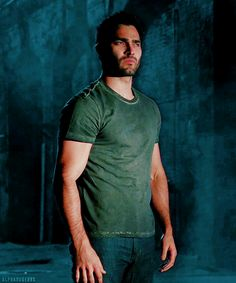 He really looks good in that color.  Derek Hale.