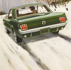 Will Davies's illustration for Mustang consumer ad circa 1965.