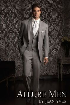 Allure Men by Jean Yves is an inspired collaboration between Jean Yves Formalwear and Allure Bridal. The Heather Grey 'Allure' tuxedo was expertly and aptly created in response to the growing demand f
