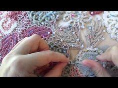 Irish Crochet Lace Demonstration Урок 2 часть 1 из 3 Композиция в технике ирландского кружева - YouTube