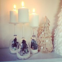 Wine Glass Holiday Dioramas | POPSUGAR Smart Living