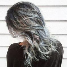 Weave Shoulder Silver Gray Hair Color Shades Images