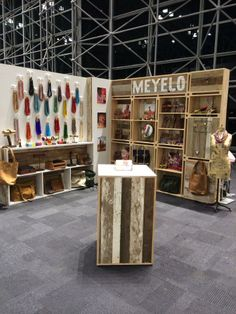 rustic wood booth with white accents