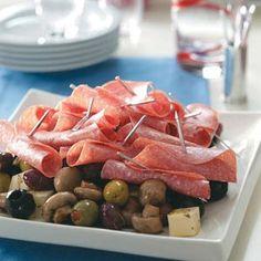 Marinated Antipasto Platter  #TasteOfHome #EasterDinner