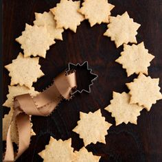 These snowflake cookies will look beautiful as a decoration for the Christmas tree � just make holes in the dough