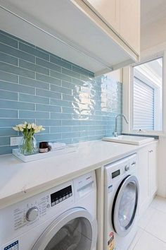 82 Modern Style Bathroom Decor Ideas - Page 48 of 82 Mudroom Laundry Room, Modern Laundry Rooms, Laundry Room Layouts, Laundry Room Remodel, Laundry In Bathroom, Laundry Room Inspiration, Laundry Room Design, Bathroom Styling, Bathroom Interior