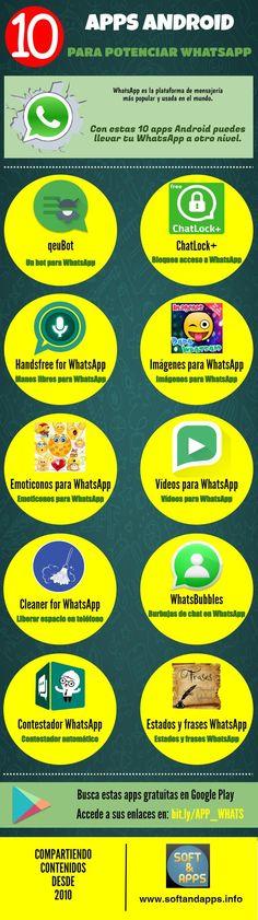 Si quieres aprovechar mejor la plataforma de mensajería más popular, seguro que te van a gustar estas 10 apps Android para potenciar WhatsApp.