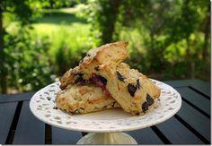 Blueberry Scones w Lemon Glaze - simple delicious!