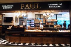 Paul Boulangerie Patisserie-- found  one in Prague! Best pain au raisin. Ever.