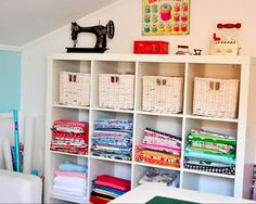 Ikea Expedit for fabric and sewing supplies