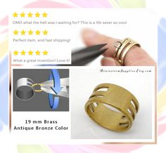 """Jump Ring Opening and Closing Finger Tool.  This little """"tool"""" saves so much time and frustration!  Visit the Jewelry Findings - Tools section at Brainstorm Supplies."""