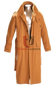 Movie Blade Runner 2 Leather Coat  Product Specifications   High Quality Real Leather Viscose Lining Lapel Collar Two Front Flap Pockets at Waist Front Buttoned Closure Buttoned Cuffs Sleeves Belted Waist Premium Stitching Brown Color