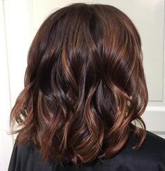 Chestnut Hair And Copper Balayage