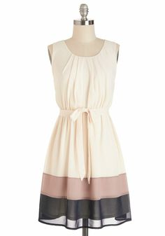 Sleeveless Band In Line Dress