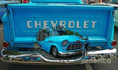Beautiful old Chevy Pick-up truck looks very cool coming out of the tailgate. www.rharrisphotos.com