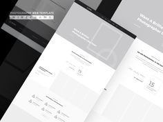 Photolac- Photography Template Wireframe by Shafiqul Islam