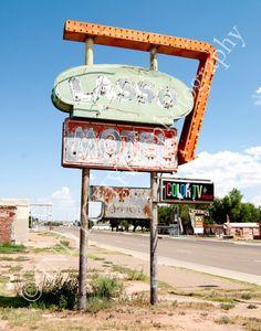 Vintage Lasso Motel Neon Sign  Historic Route 66 Tucumcari New Mexico Art Photo Photography Etsy 1950s 1960s old
