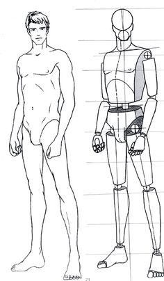 male fashion illustration