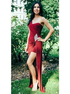Wine diamanté detail short long bridesmaid,prom ,evening dress