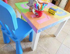 """Ikea Hack n°1 - ovvero il tavolino """"maipiùbernoccoli"""" artitudine.blogspot.it di Irene Piovanelli"""