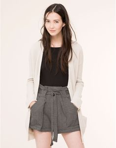 HIGH WAIST SHORT WITH BELT - NEW PRODUCTS - NEW PRODUCTS - PULL&BEAR Denmark