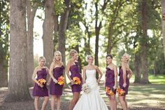 Oh my goodness this is absolutely my dream wedding. Everything from the location to dress, bridesmaids dresses and suits. Couldn't be any better. I can wait for that day :)