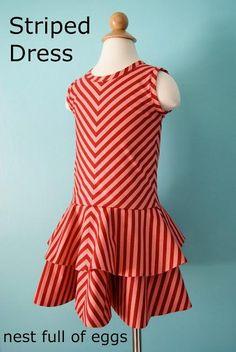 DIY Clothes Refashion: DIY Striped Dress