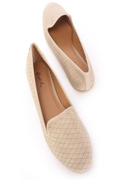 Be comfy yet stylish this season with these fashionable flats! They will go perfect with your favorite dress or skinnies! Make sure you add these to your closet, it definitely is a must have! The features include a faux leather upper in a loafer style, perforated throughout, round closed toe, smooth lining, and cushioned footbed.
