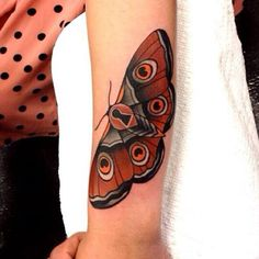 Moth Tattoos Designs & Ideas : Page 119