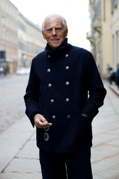 "Happy birthday, Giorgio Armani. ""Elegance is not about being noticed, it's about being remembered."""