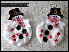 .. Bonhomme de neige ( assiette en carton )