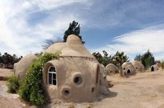 A ceramic house by architect Nader Khalili, who developed the technology of building houses by using earth as the main construction material. He proposed NASA in 1984 to use this technology to build houses on the moon. His plans were realized in South Iran.