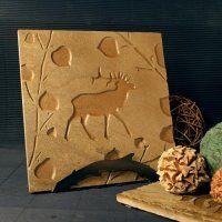 Rustic Stone Trivet: Elk in Aspens - $28.50