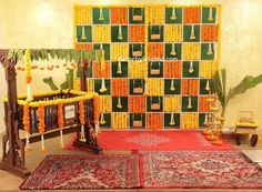 DecorbyKrishna, authentic and eco-friendly traditional home based events wedding and floral decorations Background Decoration, Backdrop Decorations, Baby Shower Decorations, Flower Decorations, Backdrops, Naming Ceremony Decoration, Ceremony Decorations, Cradle Decoration, Mandir Decoration