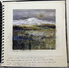 Amanda Hoskin has emerged over the past eight years as a leading exponent of Cornish landscape painting Landscape Drawings, Landscape Art, Landscape Paintings, Oil Paintings, Sketchbook Inspiration, Painting Inspiration, Oil Painting Gallery, Artist Sketchbook, Art Techniques