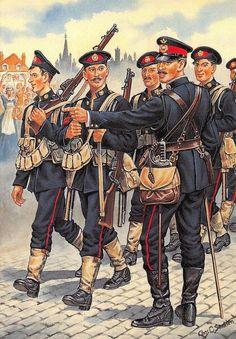 ICYMI: Postcard Uniforms of Royal Marines Light Infantry Plymouth Battalion 1914