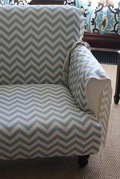 Reupholstering a sofa DIY.