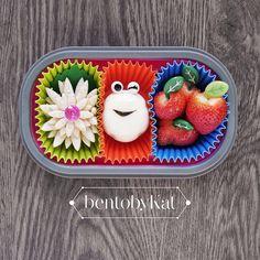 Day 68 snack: bread, boiled egg, strawberries